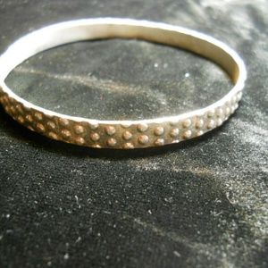 Jewelry - Silver tone studded vintage bangle